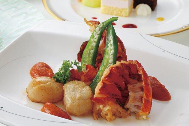 夏野菜とオマール海老のランチ